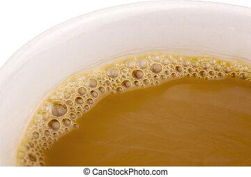 fim, café, cima, copo