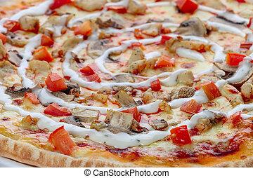 fim, pizza, cima