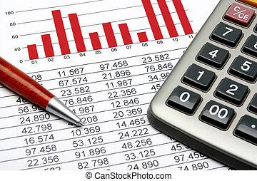 finanças, estatística