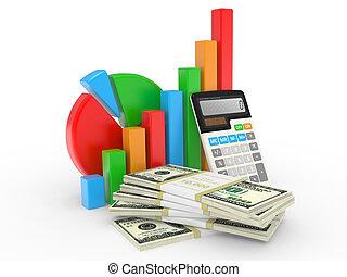 financeiro, negócio, sucesso, mostrando, mapa, mercado, estoque