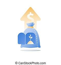 financeiro, riqueza, conceito, tempo, superannuation, valor, aumento, segurança, crescimento, dinheiro, fundo, renda, capital, pensão