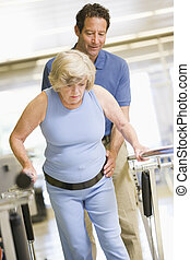 fisioterapeuta, paciente, reabilitação