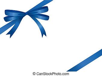 fita azul, (vector)