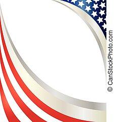 flag., abstratos, americano