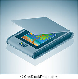 flatable, scanner, foto