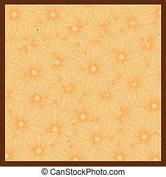 flor alaranjada, fundo