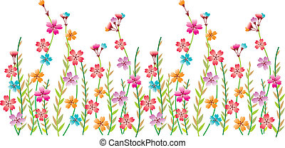 flor, borda, fantasia