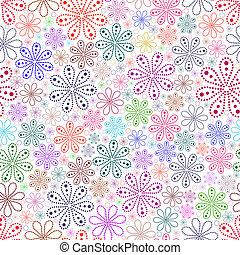 flor branca, experiência., coloridos