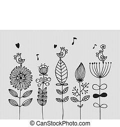 flor, cartão
