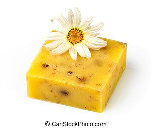 flor, chamomile, sabonetes