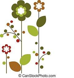 flor, coloridos, abstratos, springtime, desenho, -2, flores