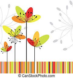 flor, coloridos, abstratos, springtime, listra, fundo