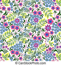 flor, coloridos, fundo, branca