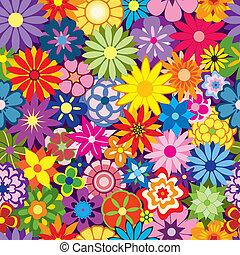 flor, coloridos, fundo