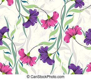 flor, coloridos, fundo, fantasia, seamless