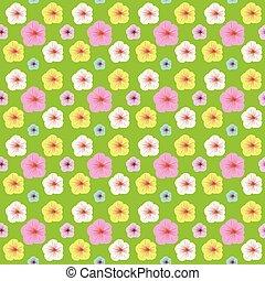 flor, coloridos, padrão, seamless, experiência verde