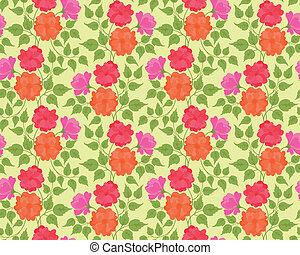 flor, coloridos, seamless, fundo