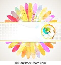 flor, fundo, colorido