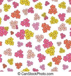 flor, fundo, coloridos, seamless, vetorial, padrão, superfície branca