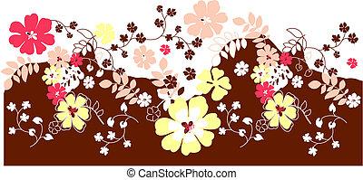 flor, fundo, floral