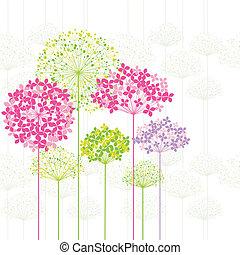 flor, fundo, springtime, coloridos, dandelion