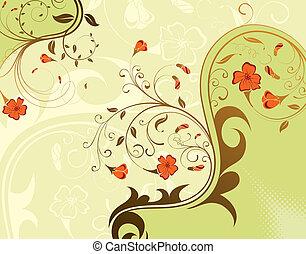 flor, fundo