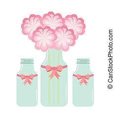 flor, garrafa