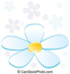flor, mapa, 3d