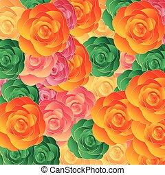 flor, ornamento, coloridos