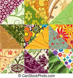 flor, patchwork