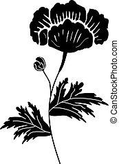 flor, pretas
