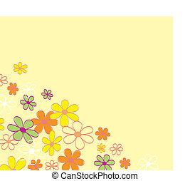 flor, retro, fundo, textura