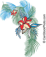 flor, roupa, tropicais