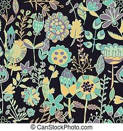 flor, seamless, padrão, textura