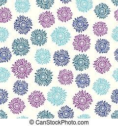 flor, sol, seamless, multicolored, experiência., padrão