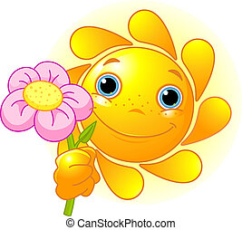 flor, sol, verão