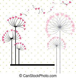 flor, sumário amor, polca, fundo, ponto