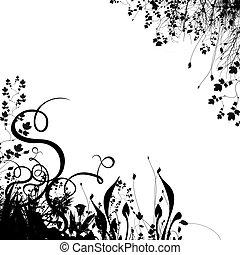 floral, #2, fundo