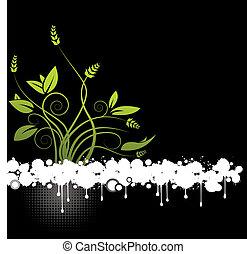 floral, abstratos, vetorial
