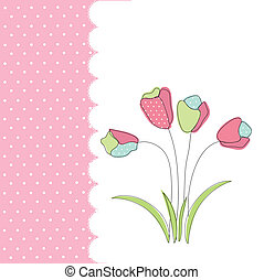 floral, cartão cumprimento