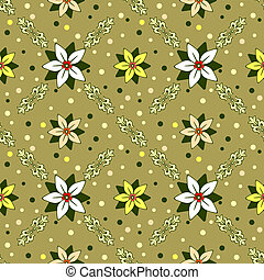 floral, decorativo, ornamento, seamless, (vector)