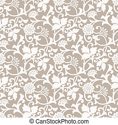 floral, desenhista, seamless, fundo