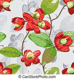 floral, experiência., elemento, cinzento, seamless