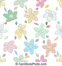 floral, experiência., luminoso, seamless, elemento