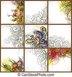 floral, jogo, backgrounds.
