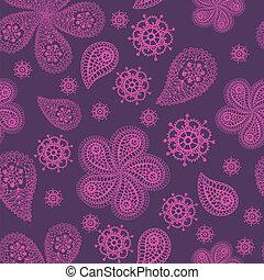 floral, ornamental, colorido, seamless, padrão