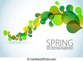 floral, primavera, abstratos, fundo