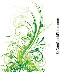 floral, projeto abstrato, natureza