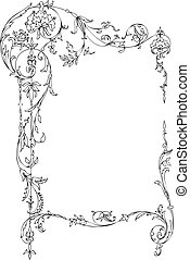 floral, quadro, clássicas