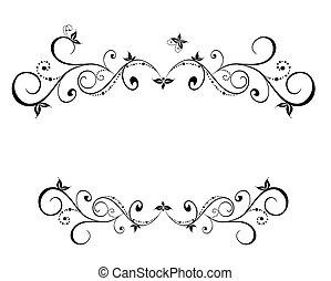 floral, quadro, pretas, casório